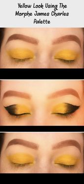Photo of Yellow Look Using The Morphe James Charles Palette – Eye Makeup  Yellow Look Usi…