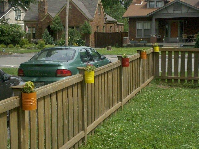 Rostitchery Fence Can Garden Front Yard Fence Backyard Fences Fence Design
