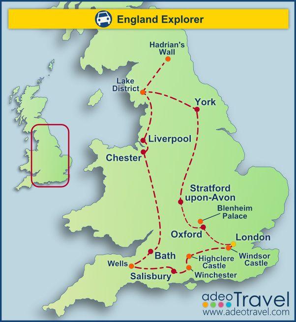 Self Drive Tours Of England England Explorer Travel UK - Tours of england