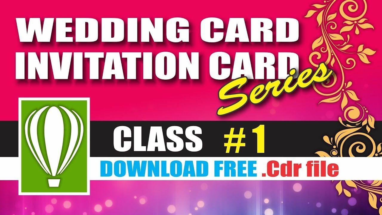 Wedding Card Design Class 1 Coreldraw Tutorials For