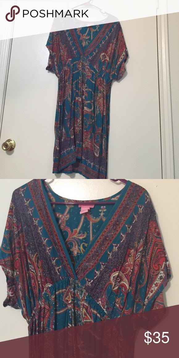 Printed Dress Kimono style dress. Make an offer! Dresses Mini