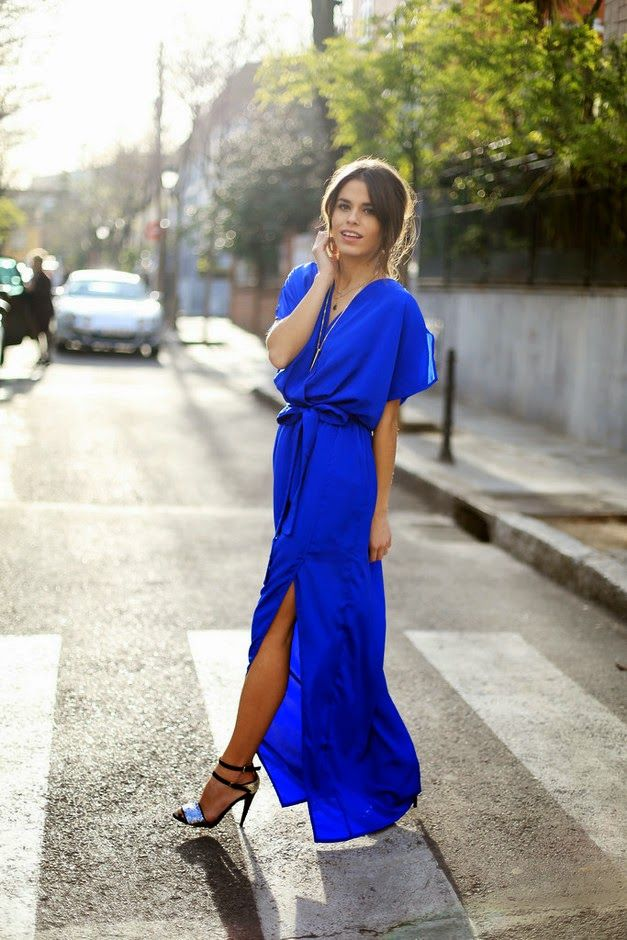 What To Wear For A Summer Wedding As A Guest Royal Blue Maxi Dress Maxi Dress Blue Wedding Guest Outfit Summer