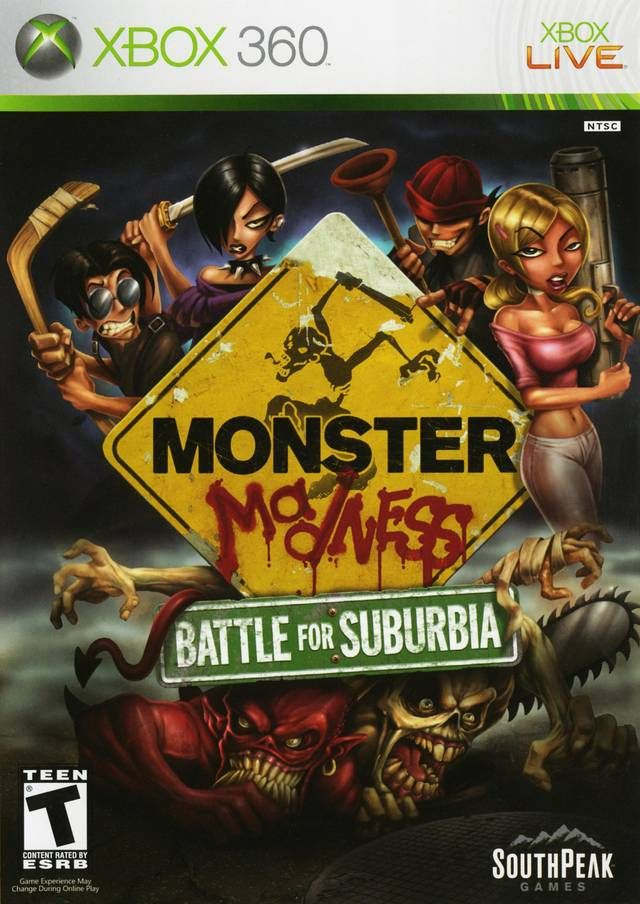Monster Madness Battle For Suburbia My X Box 360 Game Collection