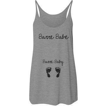 Barre Babe Barre Baby Tank by WeddingDayTemplate on Etsy