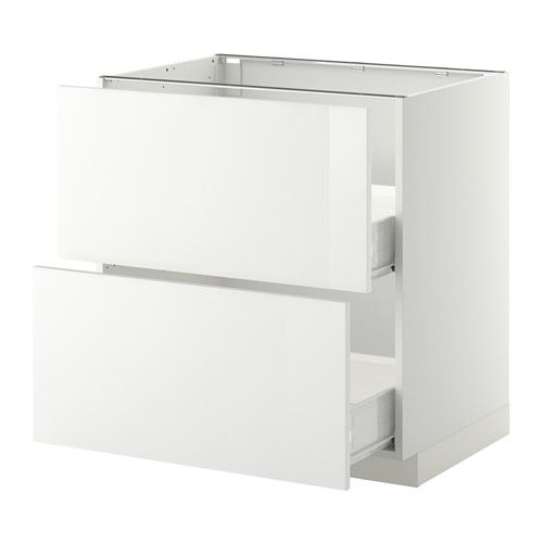 metod f rvara onderkast 2 fronten 2 m lades 80x60 cm ringhult hoogglans wit wit ikea. Black Bedroom Furniture Sets. Home Design Ideas