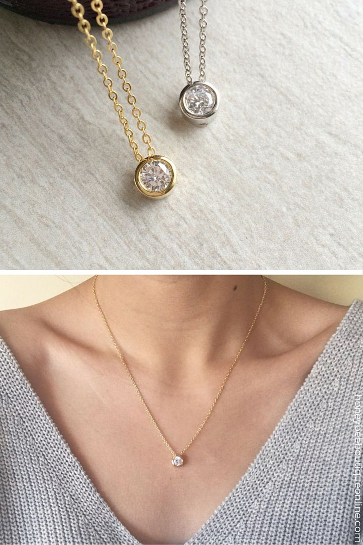 Obsessed with this adorable necklace♥ It's such a classic, and makes just the right statement. Not too much, not too little. Perfect gift for your mom, sister, or the bride to be! honeybeeboutiqueonline.com