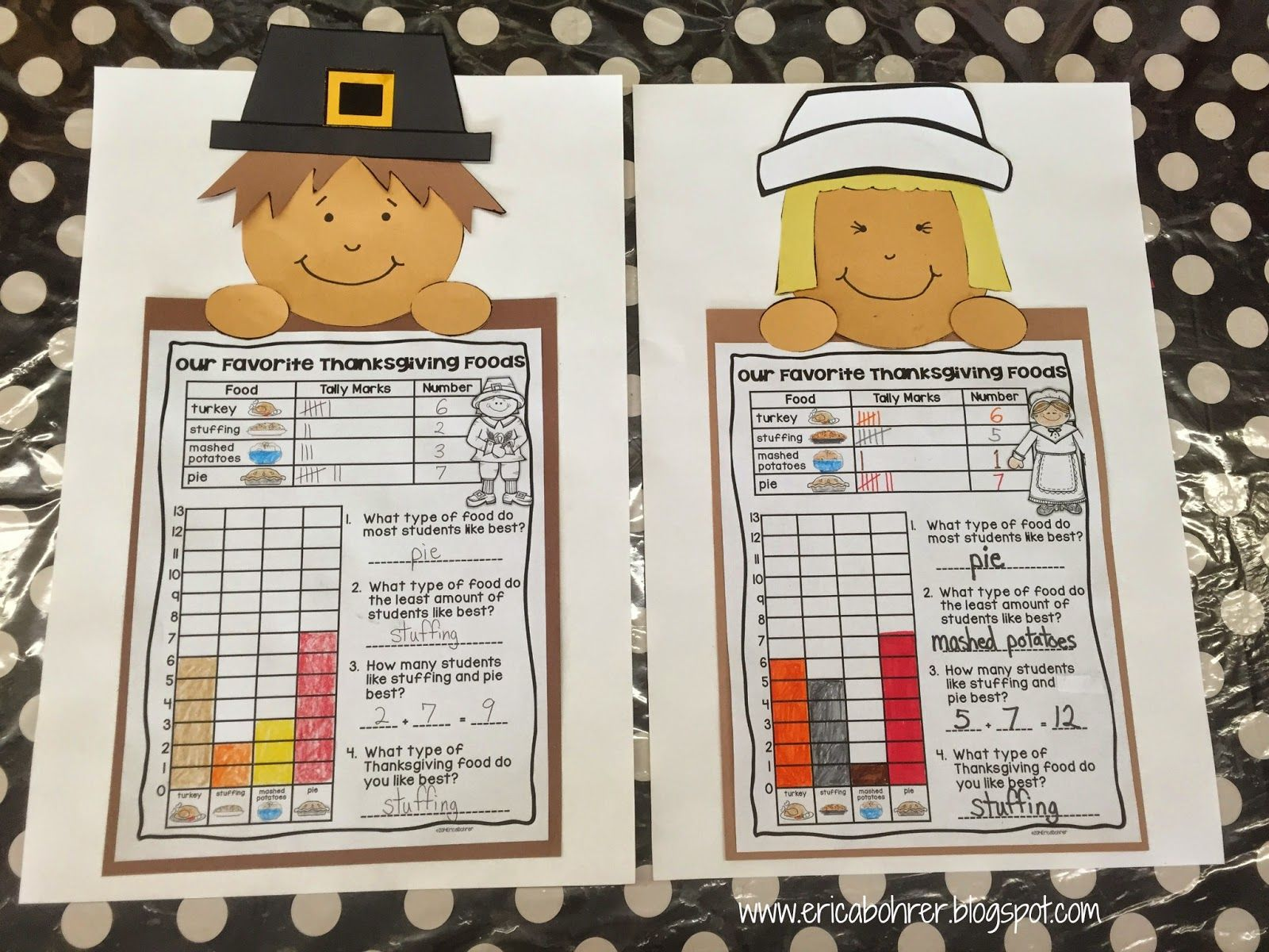 Graphing First Grade Holiday Worksheet