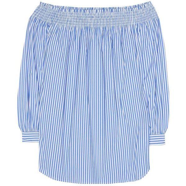 4067dc3c0f5d7 Polo Ralph Lauren Striped Cotton Off-the-Shoulder Blouse ( 190) ❤ liked
