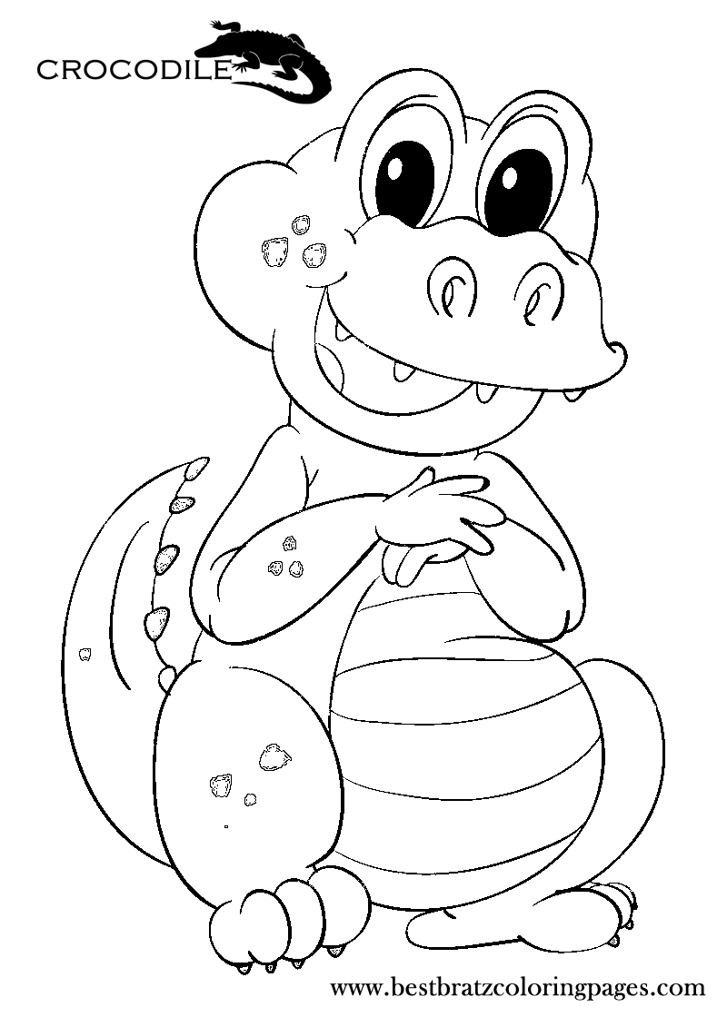 Crocodile Coloring Pages To Print   Bratz Coloring Pages   Coloring ...