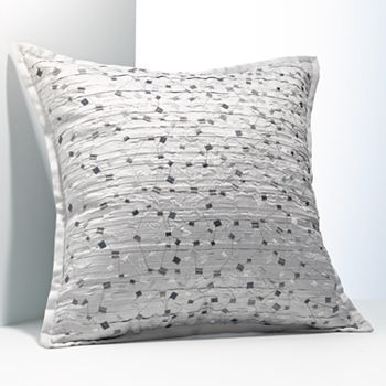 Kohls Decorative Pillows Alluring Simply Vera Vera Wang Dimensional Embroidered Squares Decorative Inspiration Design