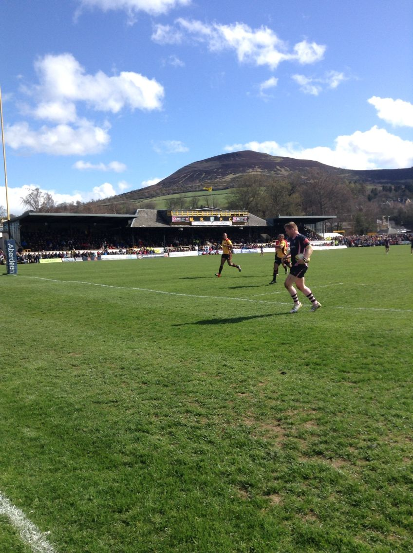 Beautiful but cold day at the Melrose 7s