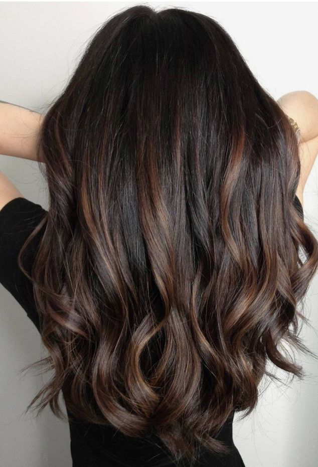 Sunkissed Highlights Black Curly Hair Google Search Hair Color For Black Hair Brown Hair Balayage Black Hair With Highlights