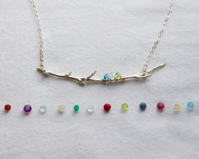 Family branch birthstone necklace birthstone necklace birthstone family branch birthstone necklacemothers birthstone jewelry aloadofball Image collections