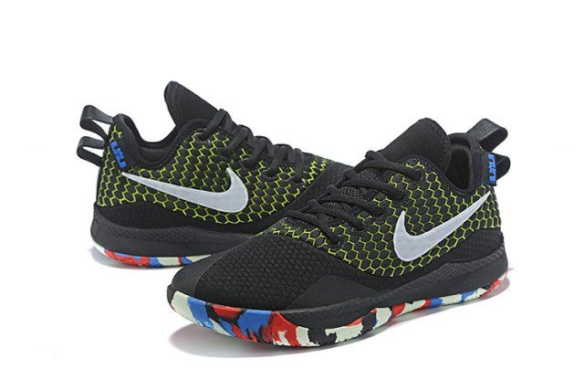 the best attitude 76e9f 19a20 Nike Lebron Witness 3 Black Green Men s Basketball Shoes