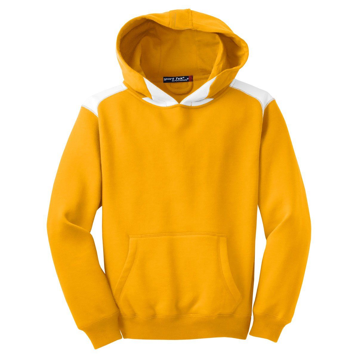 Color Youth Pullover Hooded Fleece Gold