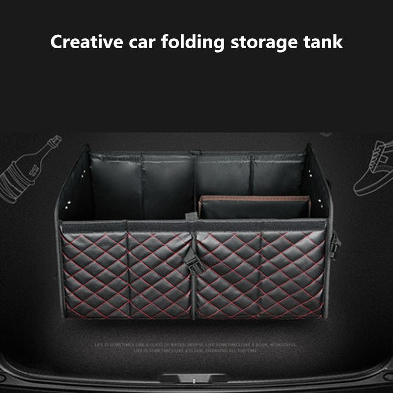 Car Storage Organiser Foldable Storage Bag for Car Jump Starter Storage Box for Car Boot
