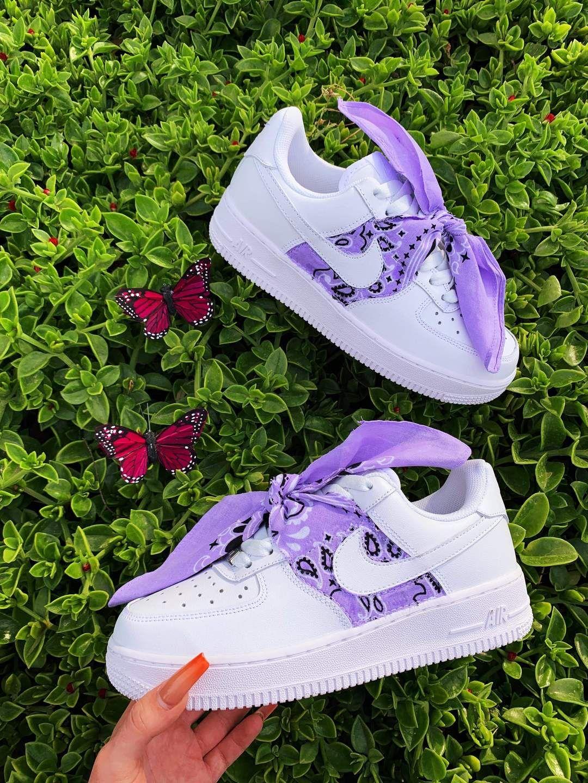 Purple Bandana AF1 in 2020 Nike air shoes, Nike shoes