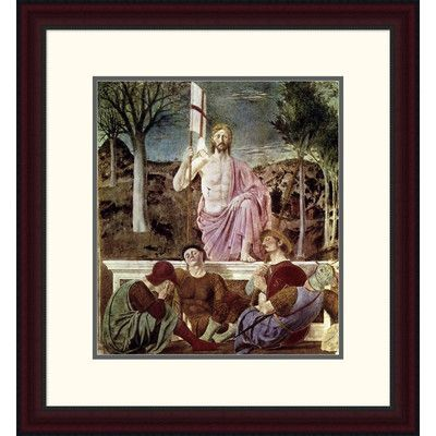 """Global Gallery 'Resurrection' by Piero Della Francesca Framed Painting Print Size: 24"""" H x 22.1"""" W x 1.5"""" D"""