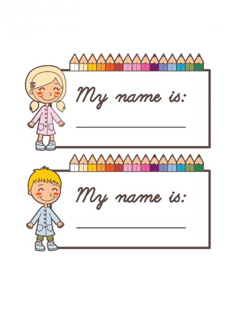 Back To School Name Cards 2 Kidspressmagazine Com Name Tag For School Preschool Name Tags Printable Name Tags