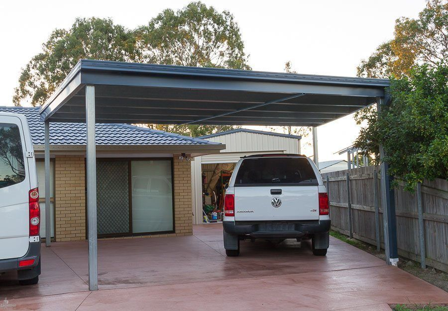 Skillion Carport Double carport, Carport kits, Home upgrades