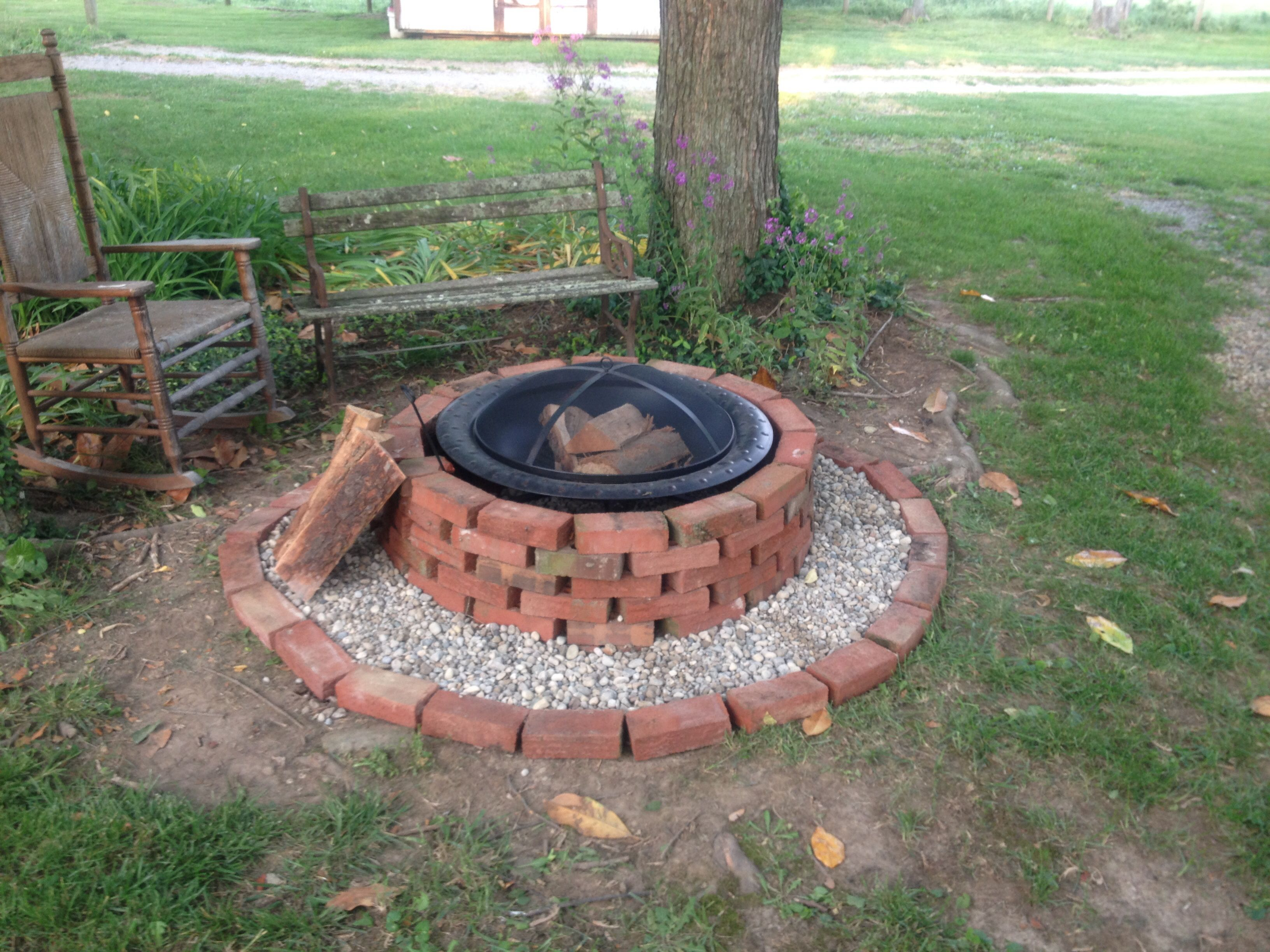 fire pits are beautiful when you fix them up i used