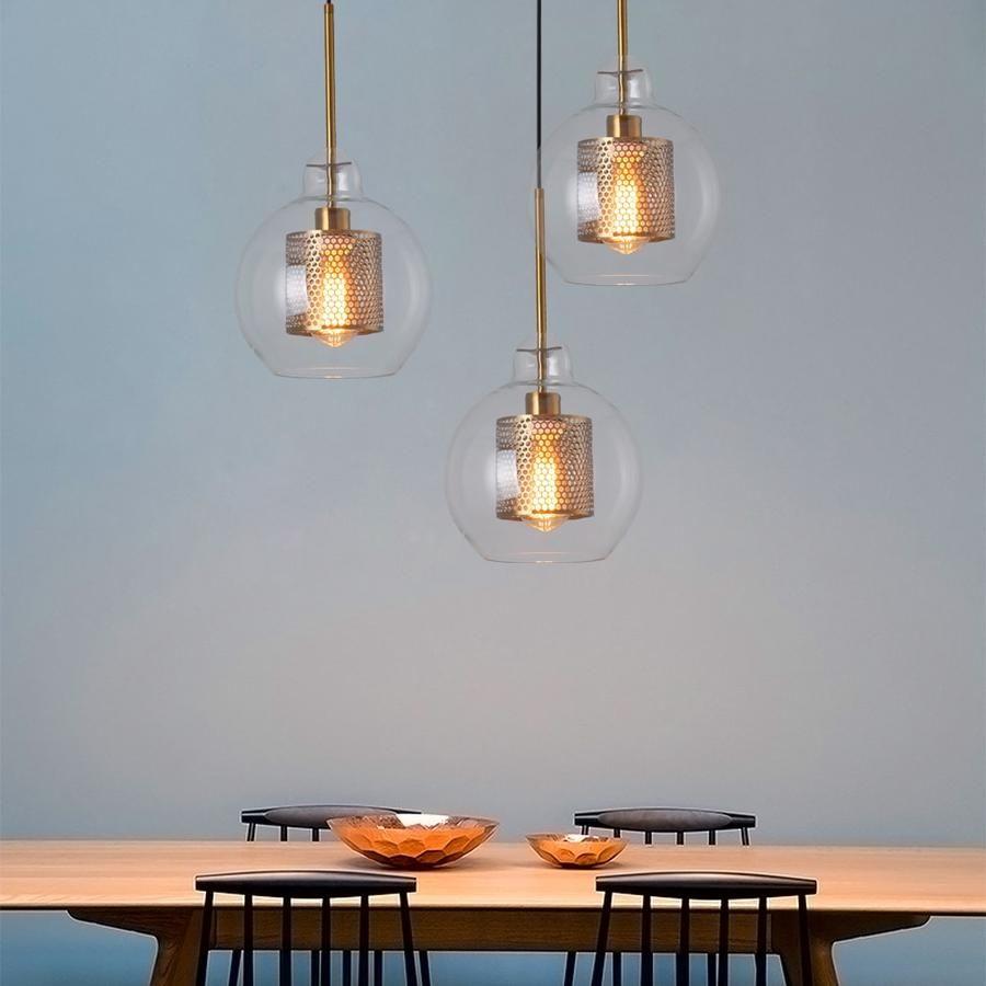 Loft Modern Pendant Light Glass Ball Hanging Lamp Kitchen Light Fixture Dining Hanglamp Living Room Luminaire Hanging Lamp Fixtures Pendant Lighting Pendant Ceiling Lamp