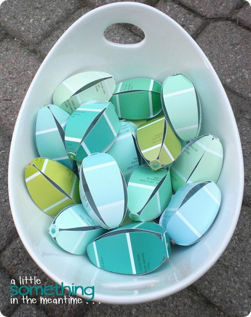 Tutorial Paint Chip Easter Eggs Easter Holidays Recycle