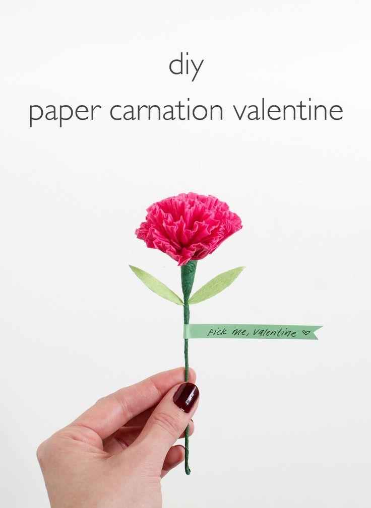 Diy Paper Carnation Valentine Tissue Paper Flowers Diy Diy Paper Tissue Paper Flowers