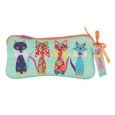 Eclectic Cats in Bowties Neoprene Accessory Case #luvley #boutique #stationary #artsandcrafts