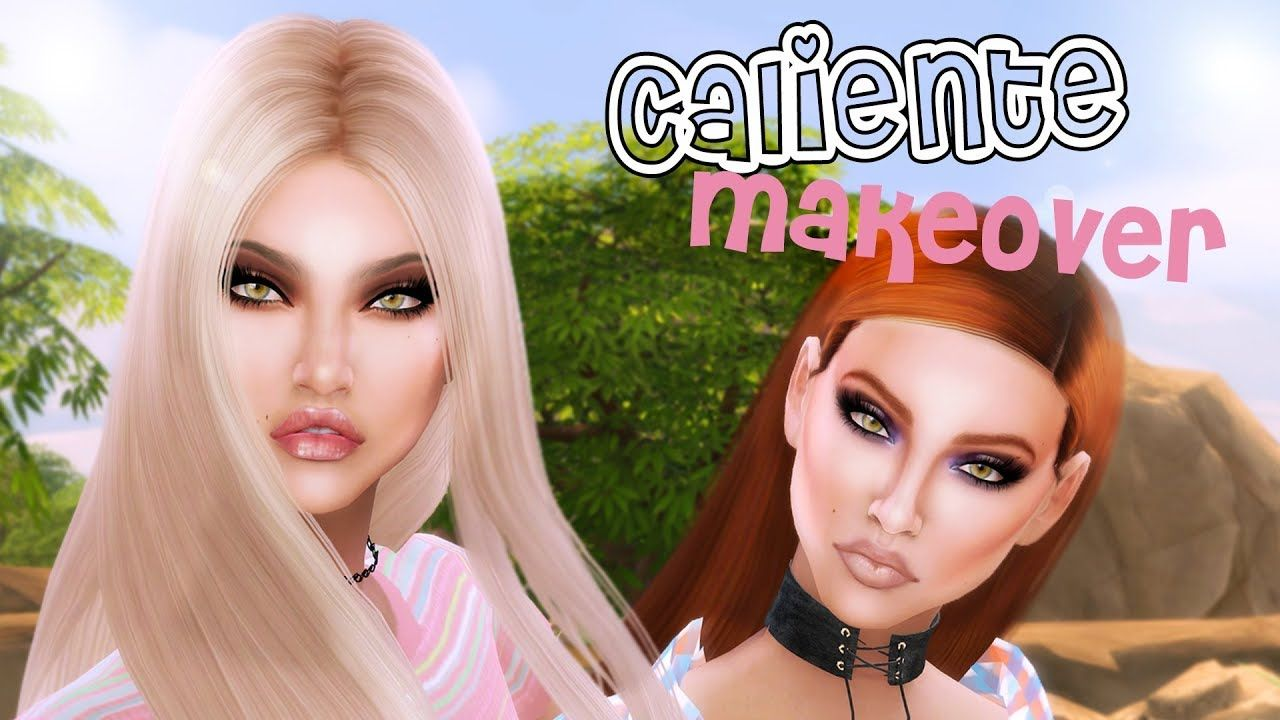 Sims 4 Townie Makeover Caliente Sisters dina caliente nina