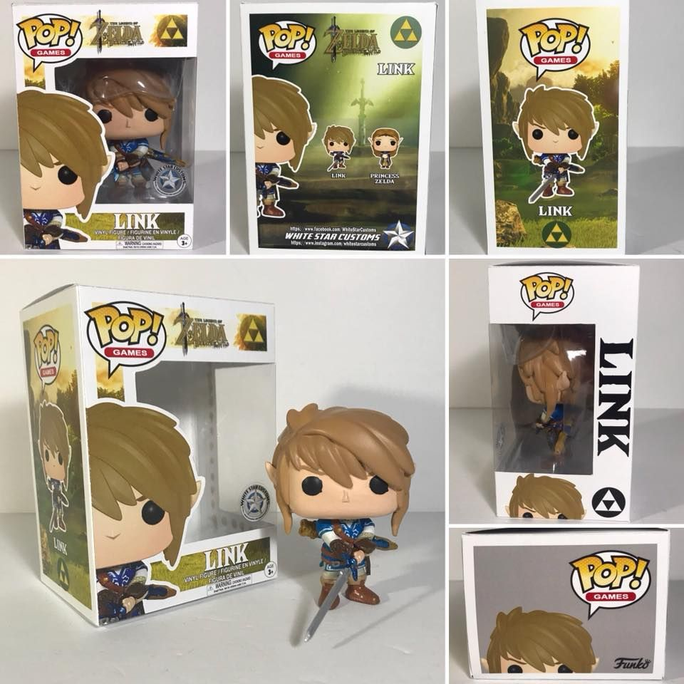 Link Legends Of Zelda Custom Funko Pop By White Star Custom