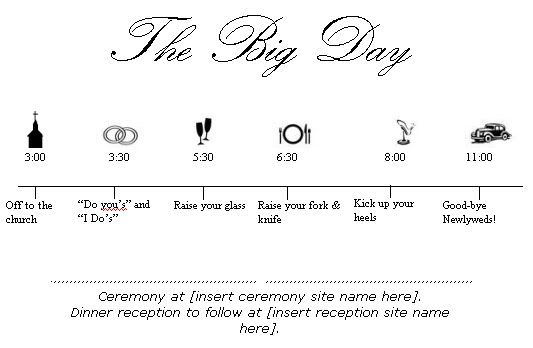Wedding Timeline Template Word