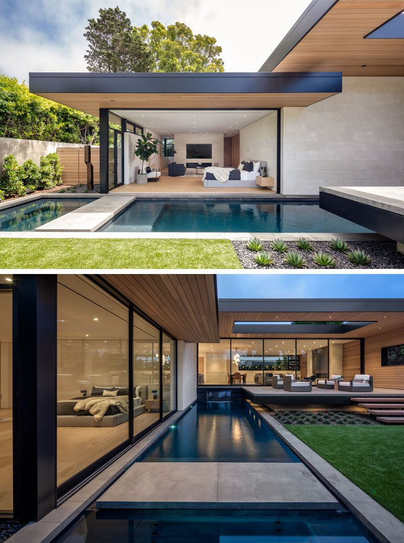 This Modern California House Creates An Indoor Outdoor Lifestyle With Retractable Glass Walls Modern Beach House House Designs Exterior Modern House Design