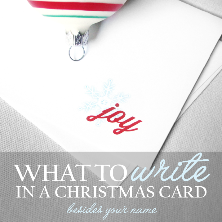What To Write In A Christmas Card Besides Your Name