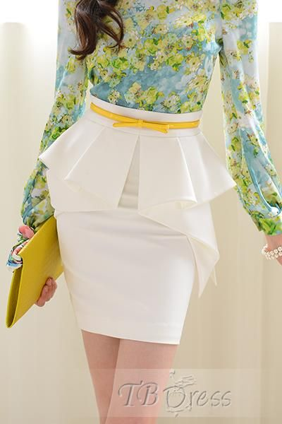 Elegant Falbala High Waist Skirt