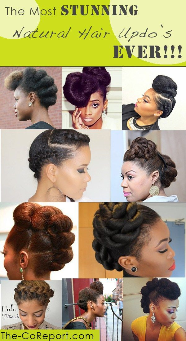 25 Stunning Natural Hair Updo Styles The Co Report Natural Hair Updo Black Natural Hairstyles Natural Hair Styles Easy