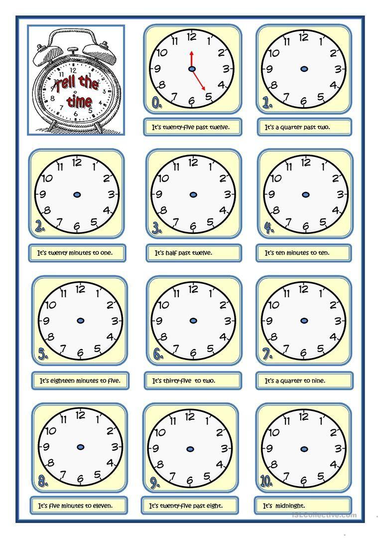 Tell The Time Worksheet Free Esl Printable Worksheets Made By Teachers Time Worksheets English Teaching Materials Teaching English Grammar [ 1079 x 763 Pixel ]