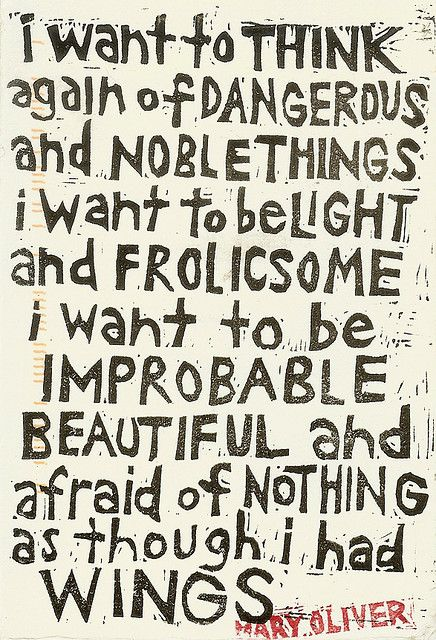 Dangerous and Noble Things  mary oliver