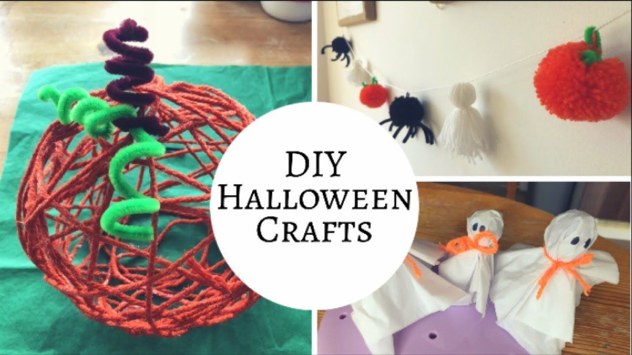 Halloween Craft Ideas Diy Halloween Decorations Youtube
