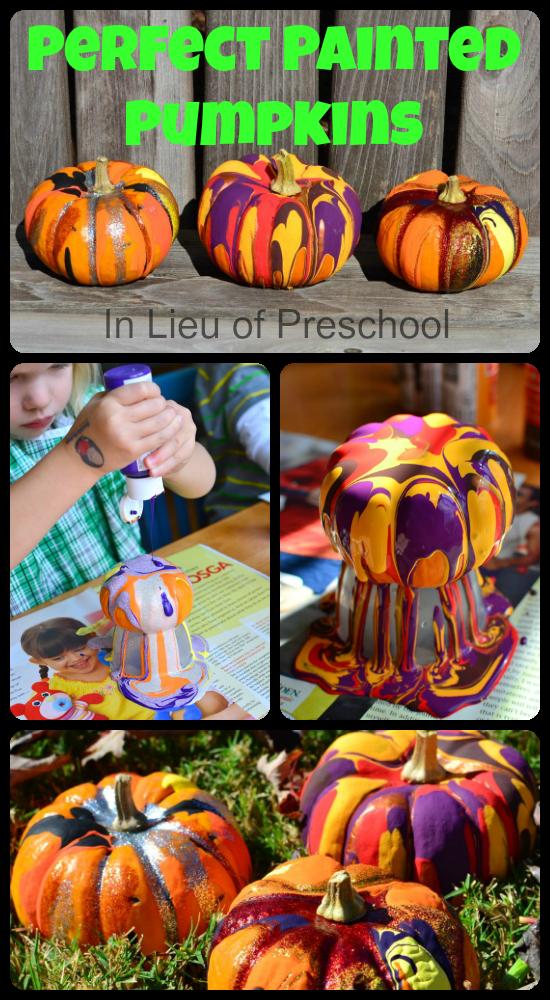 In Lieu of Preschool Perfect Painted (Mini) Pumpkins!! Easy
