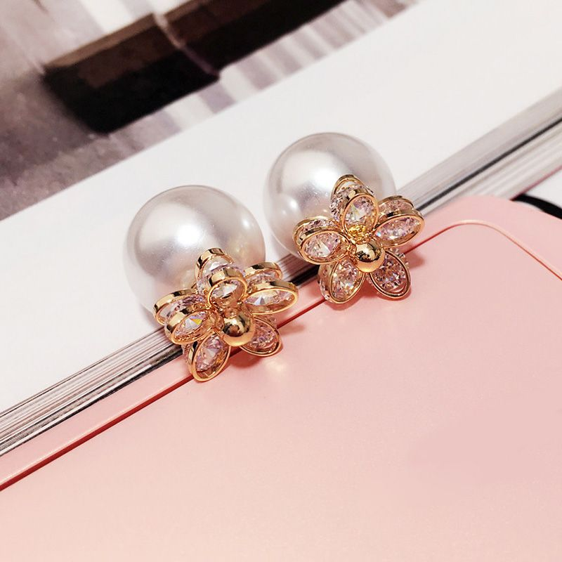 Free Shipping Crystal Earrings Fashion Wholesale crystal Rose Gold