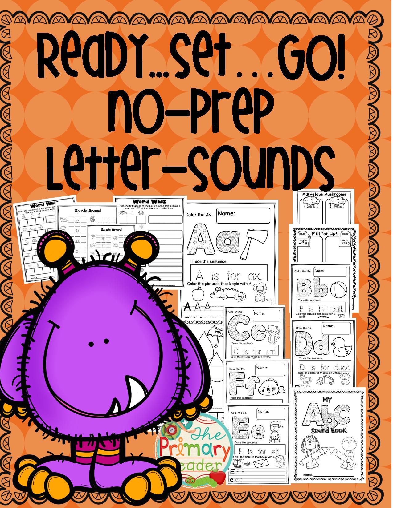 NO PREP PRINTABLES LETTER SOUNDS Letter sounds