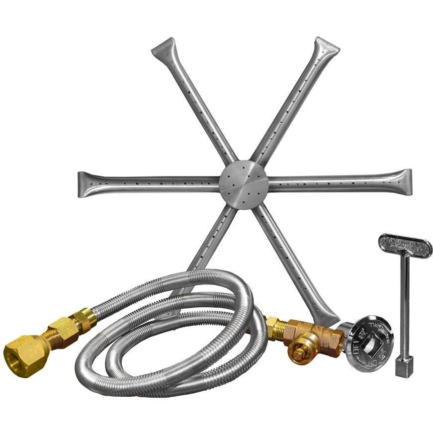 Firegear 12-Inch Burning Spur Natural Gas Fire Pit Burner Kit Without Pan -  Match - Firegear 12-Inch Burning Spur Natural Gas Fire Pit Burner Kit
