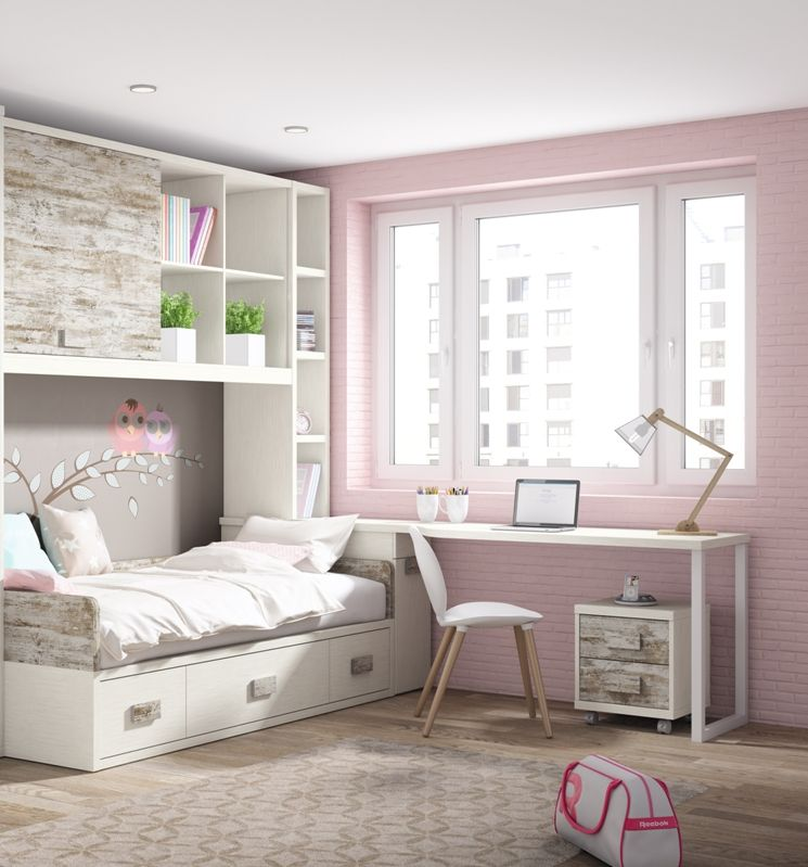 Junior room dormitorio juvenil cat logo up16 for Habitaciones infantiles dobles ikea