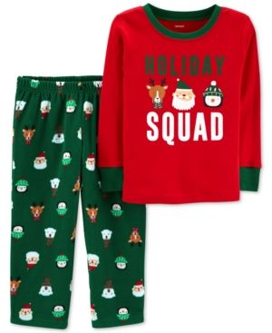 52a875ba6 Carter s Toddler Boys 2-Pc. Holiday Squad Santa Fleece Pajama Set ...