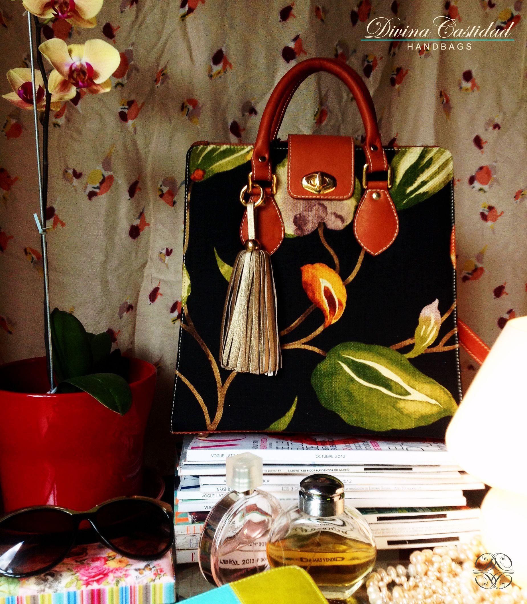 Abbey Bag en tela acuarela x dorado by DCH