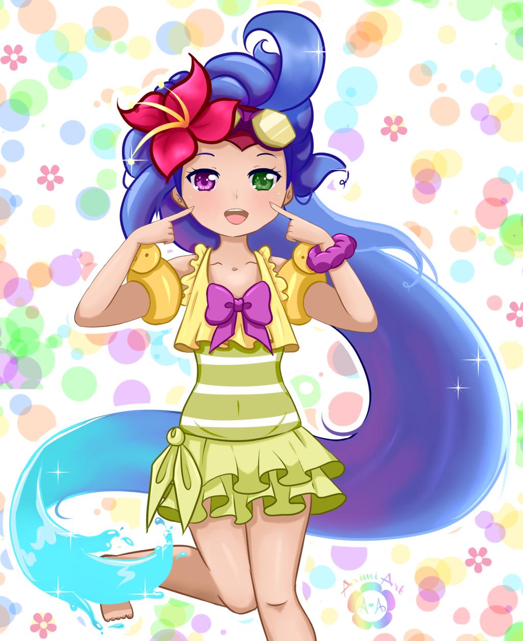Zoe Pool Party By Arimi-Art  League Of Legends  Lol -8876