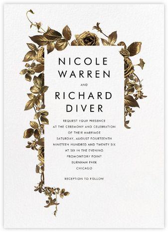 Girardin Invitation Paperless Post Gold Wedding Invitations