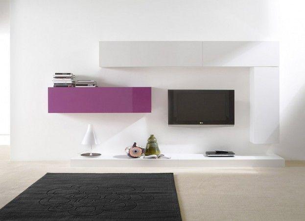 Ensemble tv mural personnalisable   wwwachatdesign - Meuble Tv Avec Rangement