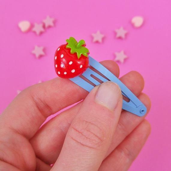 Strawberry Hair Clip Kawaii Fruit Barrette